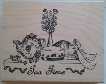 Tea Time Rubber Stamp - 131M05