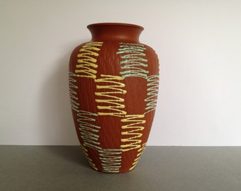 Eckhardt & Engler Mid Century klinker vase  West Germany from the 1960s West Germany.  WGP vase.