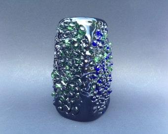 Skrdlovice / Beranek rare Art glass design vase , stunning object made in the  1960s by Miloslava Svobodova.