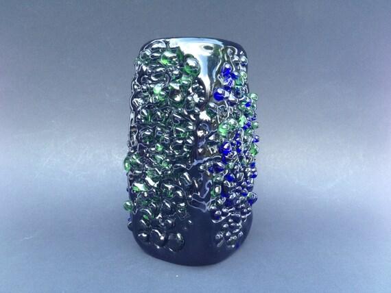 Beranek Glass Vase Beranek Rare Glass Object