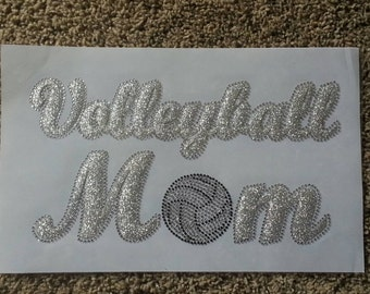 Volleyball T-Shirts, Sports Shirt, Women's Shirt, Team Shirt, Volleyball Mom T-Shirt, Sequin volleyball MOM Shirt