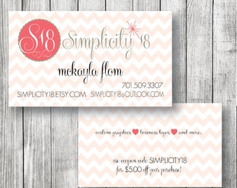 Two Sided Business Card Design - Calling Card - Contact Card