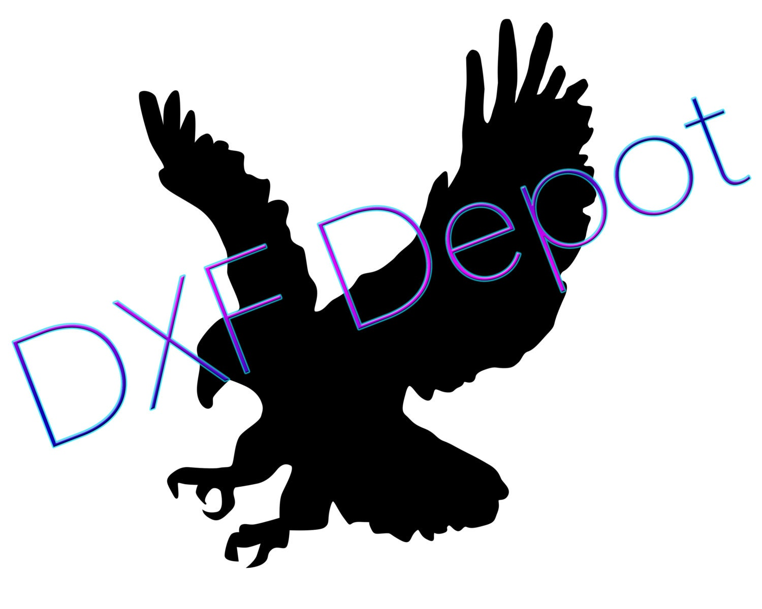 Eagle dxf format cnc cutting file vector art dxf by dxfdepot