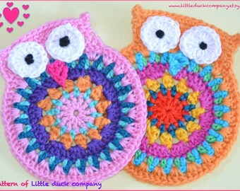 Crochet pattern owl by littleduckcompany