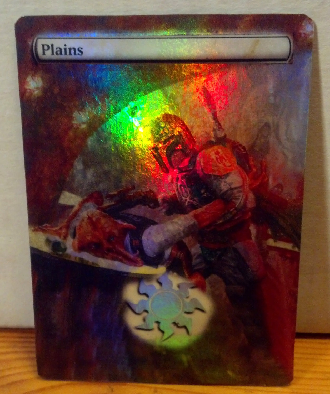 FOIL MTG Plains Altered Art Star Wars Boba by ...