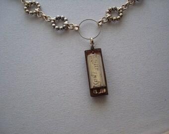 Vintage Mini Harmonica Necklace