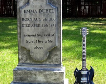 Emma Dubel Tombstone To Scale Cemetery Prop Graveyard Decoration Vampire Mummy Graveyard Costume Zombie