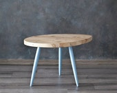 "Table, coffee table, unique, oval, Scandinavian Style series ""Blue"""