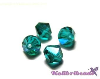 20x Czech Crystal Bicones 6 mm - Indicolite AB