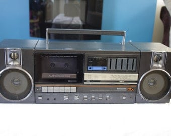 Vintage Panasonic RX Sound with Graphic Equaliser and double Tape Deck -Radio + Auto Reverse- 1980s