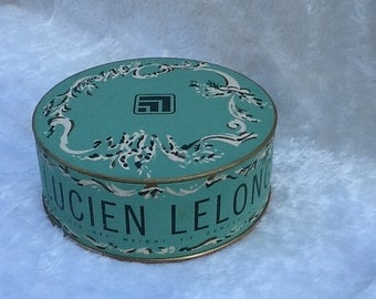 Lucien Lelong Authentic Sirocco Dusting Powder Vintage Near Full Puff
