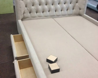 Smart Winged Diamond Tufted Headboard Amp Bed With