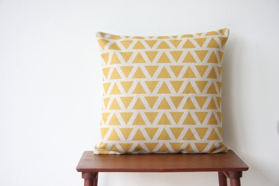 Throw Pillow Covers 20 X 20 : 20 x 20 Decorative Pillow Cover Geometric Pattern by BeadandReel