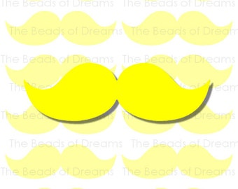 12 large yellow Mustaches - mustaches tag - Printable digital collage sheet - mustaches party - INSTANT DOWNLOAD (cs0086)