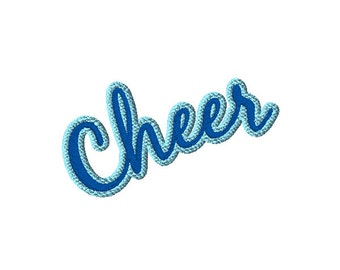2 tone Cheer Lettering Machine Embroidery Design