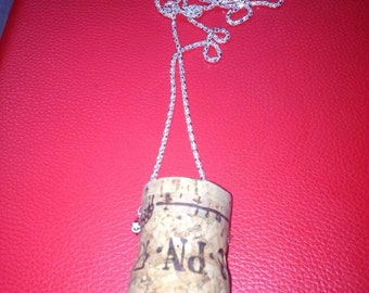 Hand made cork necklace