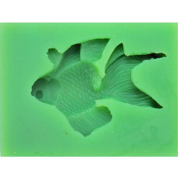 Silicone mold fish fondant cake mold for by nicolesiliconemold for Silicone fish molds