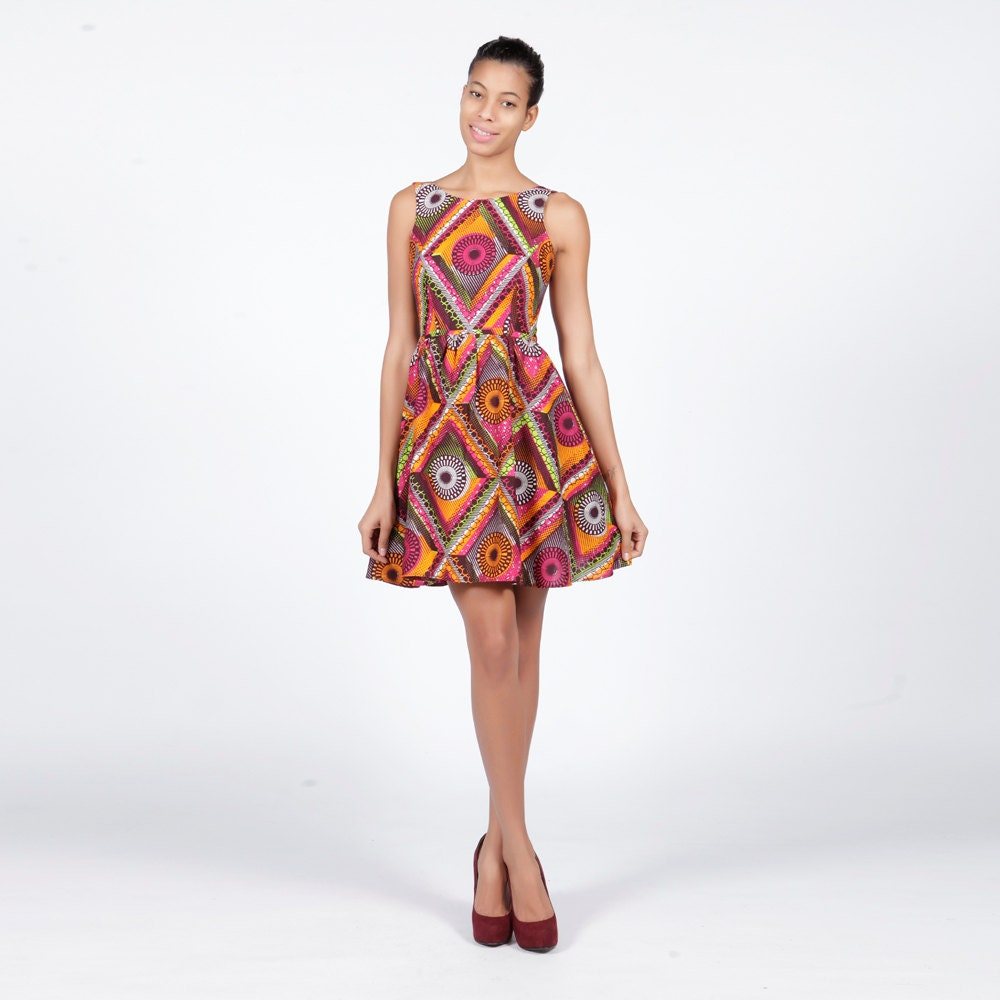 Skater Dress African Print Dress Chiral African Print Skater