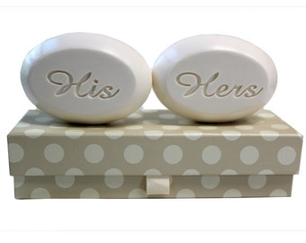 Soap Sentiments - Personalized Scented Soap Bars Engraved with His & Hers