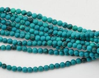 "16""   Green  Turquoise  4MM  Gemstone Beads Bead"