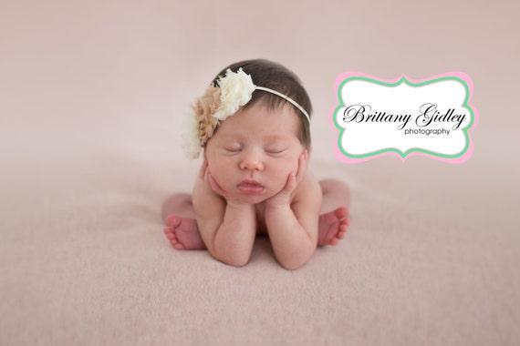 Small Shabby  flowers  Baby Headband, Newborn Headband,  Infant Headband,Baby Headband, Headband Baby