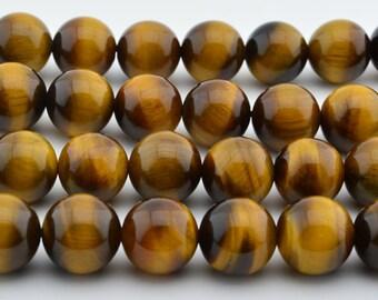 15.5 INCH Natural African Tigereye Beads  Gemstone 8mm Smooth Round