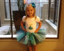 Frozen Elsa Matching Tutu And Shirt Set- frozen party dress- tutu and personalized embroidered shirt perfect for a trip to Disney Land!