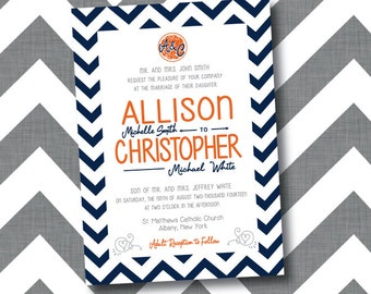Printable Orange Wedding Invitations