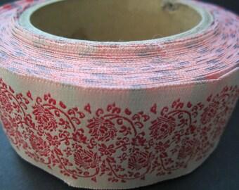 Trim-1 Yard Vintage Red/White Cotton Trim