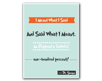 Quote Art Dr. Seuss Poster Wall Decor (S26)