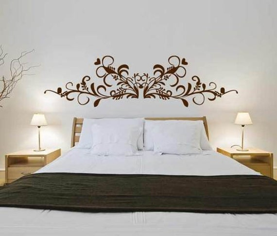 Testata barocca 3 wall decal sticker camera da letto - Stencil muro camera da letto ...