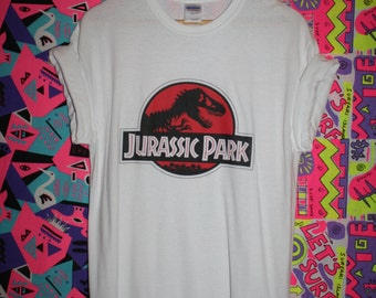 jurassic park movie t-shirt 90s vtg retro dinosaurs hipster cult film