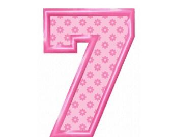 No. 7 Applique  Machine Embroidery DESIGN NO. 266