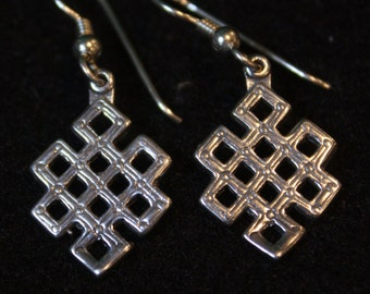 Ethiopian Design - Sterling Silver Dangle Earrings