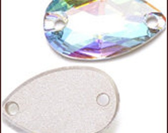 SWAROVSKI 3223 12x6mm Crystal AB or Golden Shadow