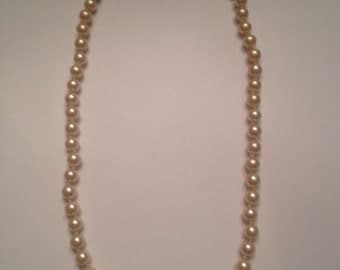 Vintage Napier Pearl Necklace Costume Jewelry