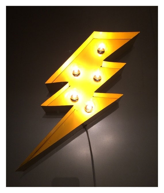 Marquee Lightening Bolt 24 ...light up sign YELLOW! : lighting bolt image - azcodes.com