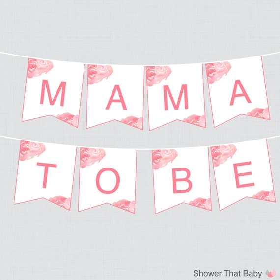 Mama To Be Chair Banner Sign For Baby Shower Includes Mama