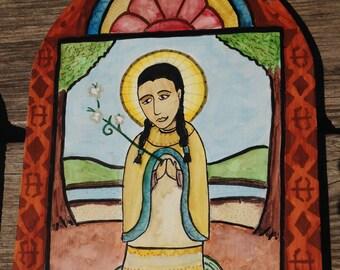 Retablo of Saint Kateri Tekakwitha