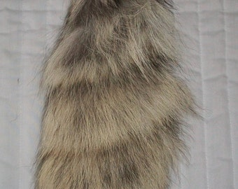 Genuine handcrafted XL coyote tail keychains