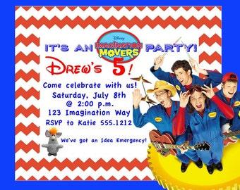 Imagination Movers Birthday Invitation