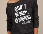 Eco-Friendly Off the Shoulder Pullover –  Don't Be Sorry,Do Something! - The Animals