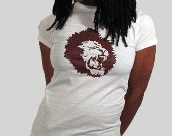 Distributed Lion Logo shirt for women, Identity T-shirt, Logo shirt, Round neck, Short sleeves, Cotton shirt, Womenz shirt