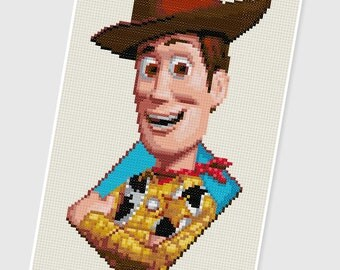 PDF Cross Stitch pattern - 0007.Woody (Toy Story) - INSTANT DOWNLOAD