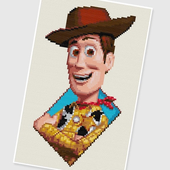 Toy Story Knitting Patterns Woody : PDF Cross Stitch pattern - 0007.Woody (Toy Story) - INSTANT DOWNLOAD from PIX...
