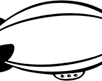 Blimp airship vinyl decal/sticker