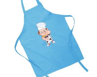 Messy Little Helper Children's Cooking Apron Playtime Mum Son Daughter Dad Helper