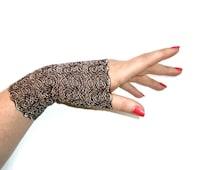 Black Gold Lace Cuffs Armwarmers Fingerless Gloves Noir Avante Garde Burlesque Flapper Gothic Steampunk Victorian Art Deco Lolita Emerald