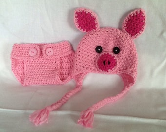 Pig Hat And Diaper Cover Crochet Pattern Indulgy Party ...