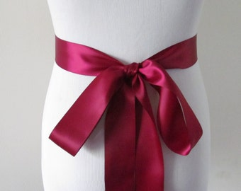 Red Satin Sash Etsy